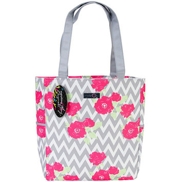 Everything Mary Chevron Roses Yarn Tote, 13.5