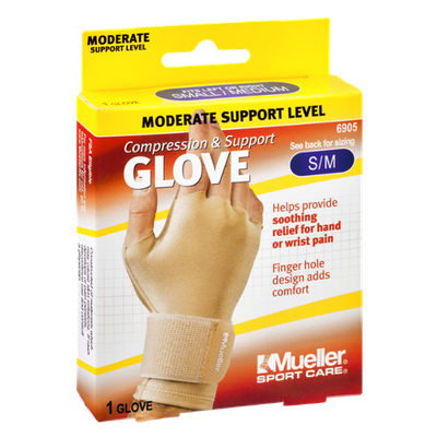 Mueller Sport Care Moderate Support Level Small/Medium Compression & Support Glove