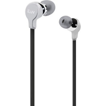 Jwin Electronics Corporation iLuv Silver Comfort Earphones with Flat Wire IEP314SIL - JWIN ELECTRONICS CORP.