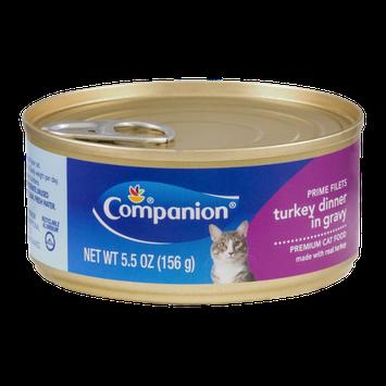 Companion Premium Cat Food Prime Filets Turkey Dinner in Gravy 5.5 OZ