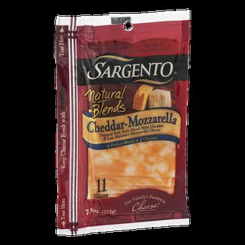 Sargento® Natural Blends® Cheddar-Mozzarella Cheese Slices