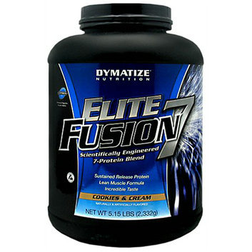 Dymatize Nutrition Elite Fusion 7 Protein Blend Dietary Supplement Powder Cookies & Cream