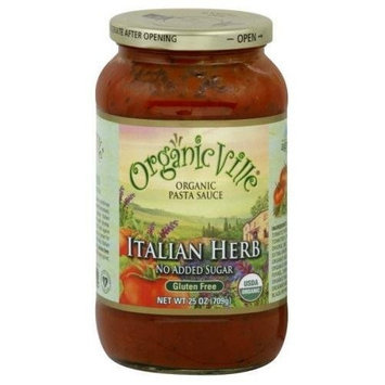 Organicville Organic Italian Herb Pasta Sauce (12x25oz) ( Value Bulk Multi-pack)