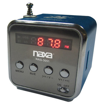 Naxa Nas3051bl Portable Speaker With USB Fm Radio & Led Display (blue)