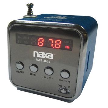 Naxa Nas3051bl Portable Speaker With USB Fm Radio & Led Display (blue)