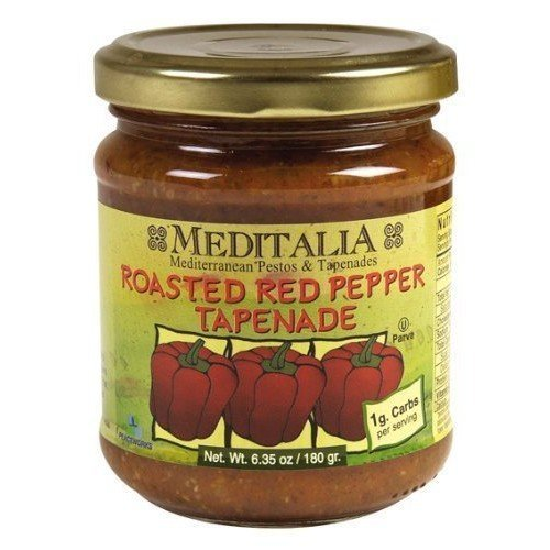 Meditalia Roasted Red Pepper Spread 6.35 oz. (Pack of 6)