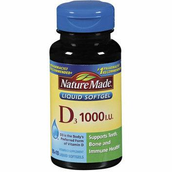 Nature Made : D3 1000 Mg Liquid Softgels Vitamin D Supplement