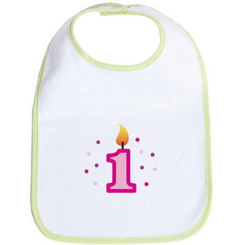 CafePress Newborn First Birthday - Candle (Girl) Bib