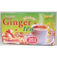 Honsei Instant Ginger Honey Tea (20 Sachets) 18 G/0.63oz - Product of Singapore