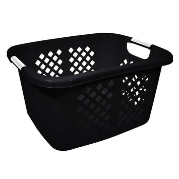 Hms Manufacturing Home Logic Diamond Pattern Laundry Basket Black - HMS MFG. CO.