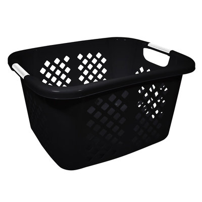 Hms Manufacturing Home Logic Diamond Pattern Laundry Basket Black - HMS MFG. CO.