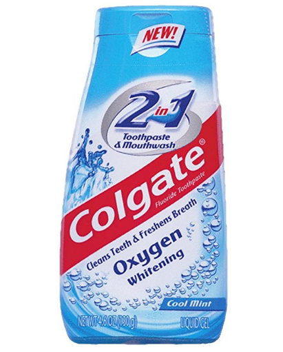 Colgate® 2in1 Toothpaste & Mouthwash Oxygen Whitening Fluoride Toothpaste Cool Mint