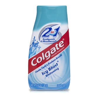 Colgate® 2IN1 Toothpaste & Mouthwash Icy Blast® Whitening Fluoride Toothpaste