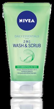 NIVEA Daily Essentials 2 In 1 Face Wash & Scrub