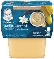 Gerber® 2nd Foods® Vanilla Custard Pudding With Banana