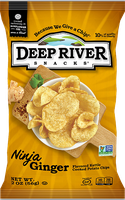 Deep River Snacks Ninja Ginger Kettle Cooked Potato Chips