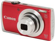 Canon PowerShot A2500 16MP Red Digital Camera
