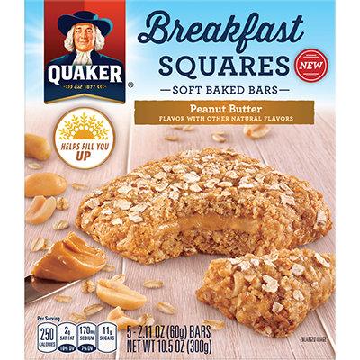 Quaker Life® Baked Peanut Butter Breakfast Squares 6-2.11 Oz. Bars