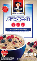 Quaker® Select Starts Blueberry Cranberry Instant Oatmeal With Antioxidants
