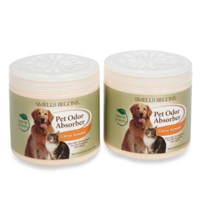 Smells BeGone Pet Odor Absorber Citrus Solid Air Freshener 15 oz. Jars (2-Pack)