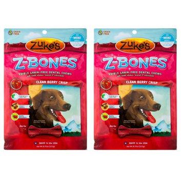 Zukes Zuke's Mini Z-Bones Dental Dog Chews, Clean Berry Crisp Flavor - 8.25oz (2 Pack)