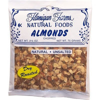 Flanigan Farms Natural Foods Almonds, Roasted, Chopped, Unsalted 2.5oz (6 Pack)