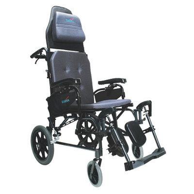 Karman Reclining 18 inch Aluminum Transport Wheelchair, 33lbs