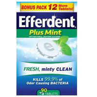 Efferdent PM Tablet Bonus 90ct, Mint, 90 ea