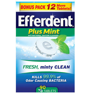 Efferdent PM Tablet Bonus 90ct, Mint, 90 ea