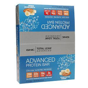 GNC Total Lean Advanced Protein Bar 22g, Peanut Butter Banana, 8 ea