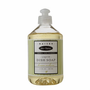 de-luxe MAISON Liquid Dish Soap, Lemon Verbena, 17 fl oz