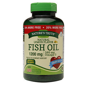 Nature's Truth Fish Oil 1200mg, Lemon, 120 ea