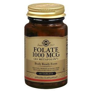 Solgar Folate (as Metafolin) 1000 mcg - 60 Tablets