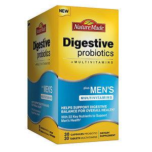 Nature Made Digestive Probiotics with Men's Multivitamins, 30 ea