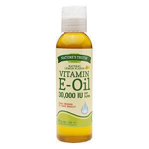 Nature's Truth Vitamin E Oil, Natural Lemon, 4 oz