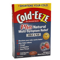 Cold-Eeze Cold Remedy Plus Natural Multi-Symptom Relief Lozenges, Mixed Berry Flavor, 12 ea