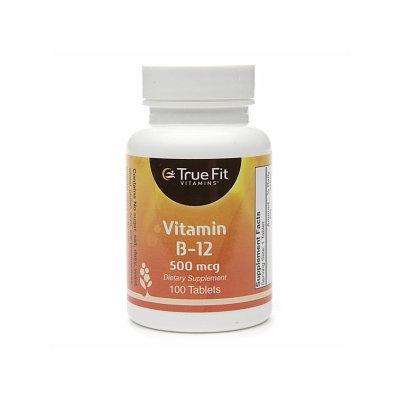 True Fit Vitamins Vitamin B-12, 500mcg
