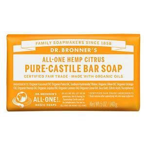 Dr Bronner's All-One Hemp Citrus Pure - Castile Bar Soap