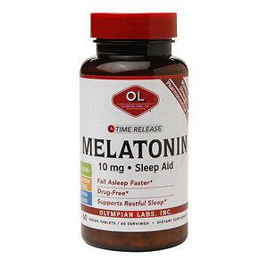 Olympian Labs Melatonin 10mg Time Release Sleep Aid, Vegan Tablets, 60 ea