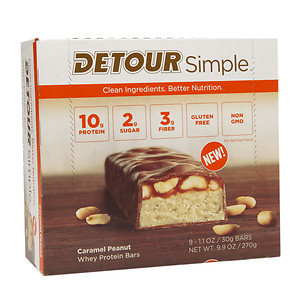 Detour Simple Bars, Caramel Peanut, 9 pk, 1.1 oz