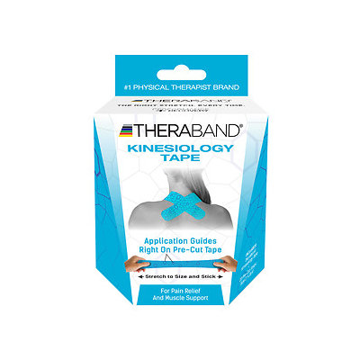 TheraBand Kinesiology Tape Precut Roll, Blue, 20 Strips, 1 ea