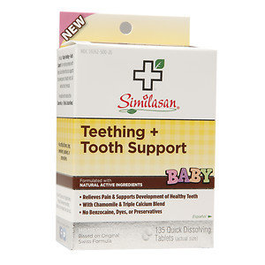 Similasan Teething + Tooth Support Quick Dissolving Tablets, 135 ea