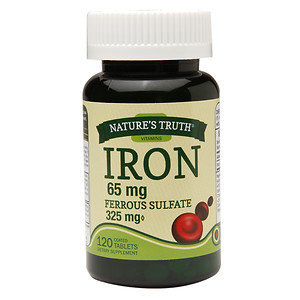 Nature's Truth Iron 65mg Ferrous Sulfate 325mg, 120 ea