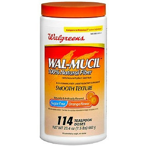 Walgreens Wal-Mucil Laxative/Fiber Supplement Powder Sugar Free