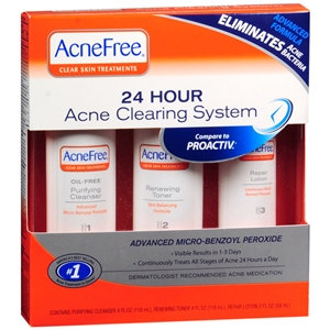 University Medical AcneFree 24 Hour Acne Clearing Sensitive Skin Kit, 1 set