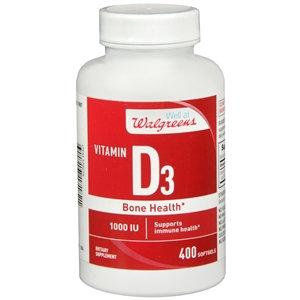 Walgreens Vitamin D3 Bone Health, 1000 IU, Softgels, 400 ea