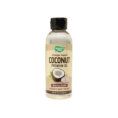 Coconut Premium Oil Savory Garlic Nature's Way 10 fl oz Oil