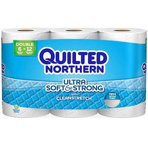 Quilted Northern Soft & Clean Double Roll, 6 ea