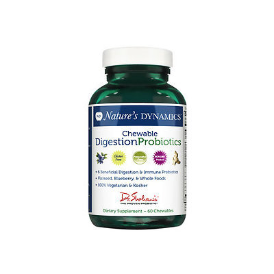 Natures Dynamics Chewable Probitotics Chewable Digestion Probiotics, 60 Count