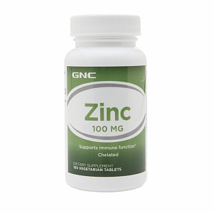 GNC Zinc 100, Vegetarian Tablets, 100 ea